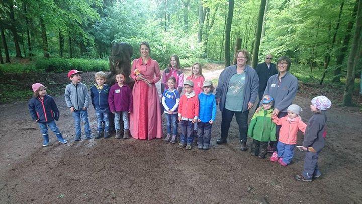 Maria I. heute zu Besuch beim Tag der offenen Tür des Bad Homburger Waldkindergartens e.V.
